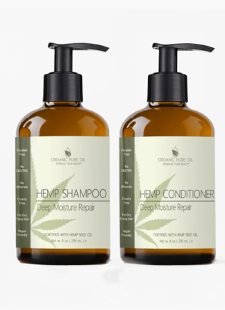 Deep Moisture Repair Hemp Shampoo and Conditioner
